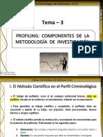 Tema 3-Profiling Componentes de La Metodología de Investigación