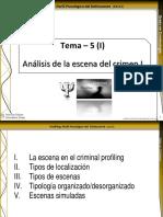 Tema 5 (I). Analisis de La Escena Del Crimen I