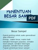 5. Sample Size (Langkah)