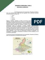 Ordenamiento territorial provincia Carrasco