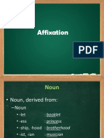 Affixation Verb, Adj, And Adv