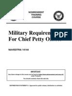 Military Req. Cpo Navedtra 14144