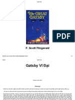 The Great Gatsby - Gatsby Vĩ Đại - F.S.fitzgerald