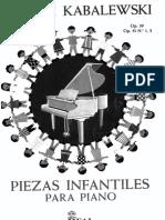 Piezas Infantiles Para Piano Dimitri Kabalewski