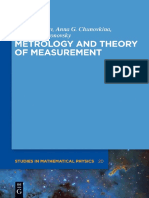 (de Gruyer Studies in Mathematical Physics) Anna G. Chunovkina, Leonid a. Mironovsky, Valery a. Slaev-Metrology and Theory of Measurement-De Gruyter (2013)