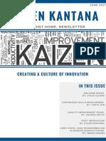 Kaizen Kantana Newsletter