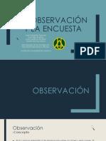 La Observación y La Encuesta