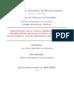 Delimitacion de Cuencas-2016