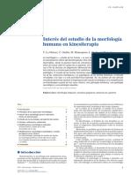 Interés Del Estudio de La Morfología Humana en Kinesiterapia