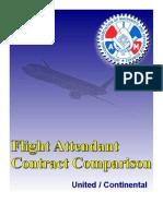 Contract Comparison United/Continental Flight Attendants