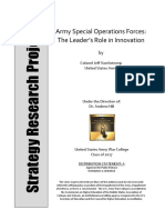 3506 - Special Forces and Innoation
