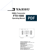 Yaesu FTV-1000 Operating Manual