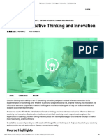 Diploma in Creative Thinking and Innovation - Visio Learning