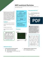 GFP Lentiviral Particles
