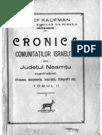 Kaufman-Cronica Evreilor_vol II_partea I