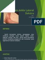 Sprain Ankle Lateral Dekstra
