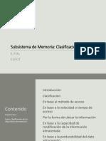 Subsistema de Memoria-Clasificación