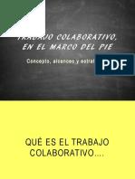 Trabajo Colaborativo, En El Marco Del Pie