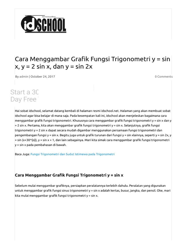 Cara menggambar grafik fungsi trigonometri y sin x y 2 sin x cara menggambar grafik fungsi trigonometri y sin x y 2 sin x dan y sin 2x ccuart Images