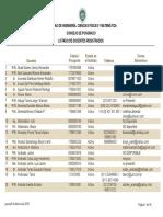 List a Do Docent Es Registra Dos