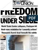 Front pages from the week of Sept. 11, 2001.