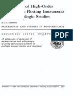 Application of High-Order Stereoscopic Plotting Instruments
