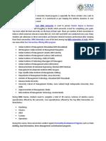 Management Courses in haryana | SRM University, Delhi NCR Sonepat Haryana