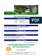 June 2007 Manawatu, Royal Forest and Bird Protecton Society Newsletter