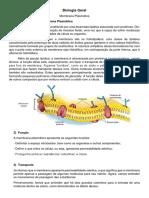 Resumo Membrana plasmatica