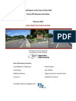 Draft Report of the Town of New Paltz Route 299 Gateway Committee