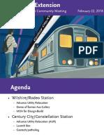 Purple Line Extension Section 2 Construction Community Meeting Presentation 2.22.18