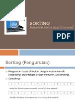 Modul 7 - Algoritma Sorting (Insertion Sort & Selection Sort)