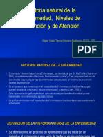 Clase 2 Historia Natural de La Enfermedad y Niveles de Prevencion