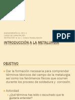Introducción a La Metalurgia