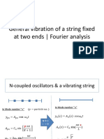 General Vibration of a String and Fourier Analysis