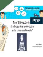 Taller CV - Entrevista Laboral