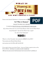 What is the Feast of Purim?