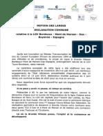 """Le texte de la """"Motion Des Landes"""" pour le respect de la réalisation de la LGV Sud-Europe-Atlantique"""