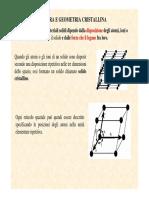 Struttura e geometria cristallina.Indici di Miller