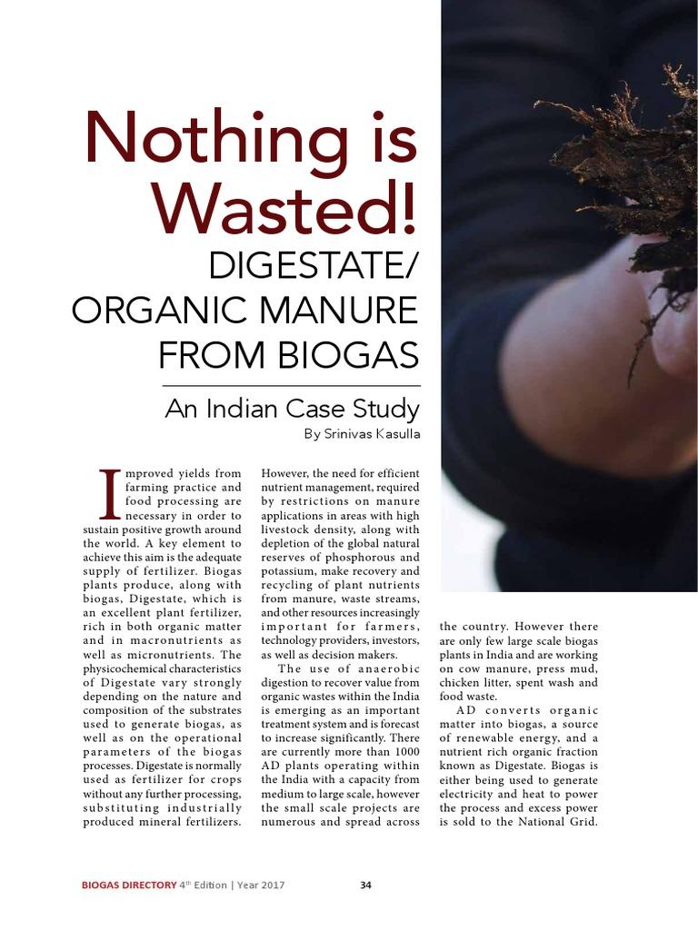 Srinivas Kasulla - Nothing Goes Wasted_Biogas Organic