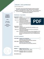 Curriculum Vitae Modelo Azul
