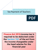 Tax Payment of Teachers