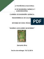 Informe de Visita Al Ingenio Monterrey