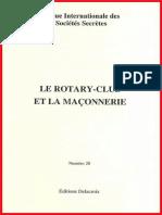 """""""Le Rotary Club et La Franc-Maçonnerie"""", par la Revue Internationale des Sociétés Secrètes (RISS)"""