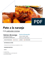 Pato a la naranja | Receta