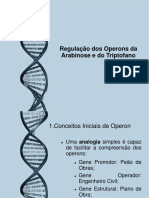 Regulação Operon Ara e Trp- 2014.2