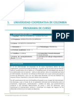 Programa de Curso Estadística Descriptiva