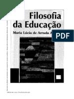 ARANHA, Maria Lucia de Aranha - Filosofia Da Educacao(1)