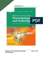 Pharmakologie - Allgemeine Pharmakologie Und Toxikologie