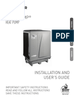 UltraTemp Heat Pump Installation and Users Guide English